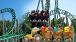 A shot showing Wicked at Lagoon in the USA also built by Zierer